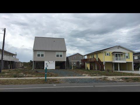 Live Hurricane Florence coverage Topsail Beach NC