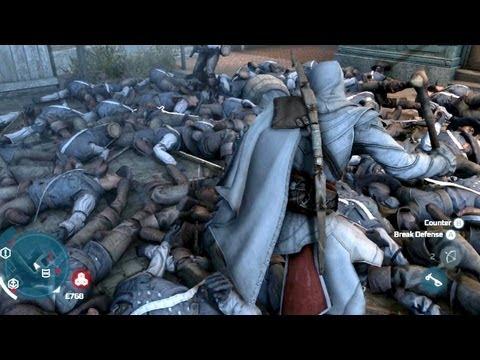 Assassin's Creed 3 Brutal Battle 943 Kills Longest Fight In AC3 History