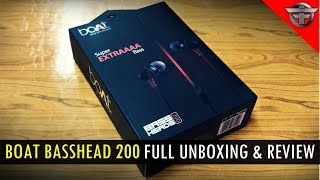 Boat BassHead 200 Best Budget Earphone under Rs 500 Full Unboxing and Review.