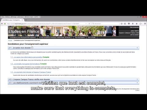 【Procédure Campus France】 Compléter son dossier et le soumettre à Campus France (Tutoriel n°2)