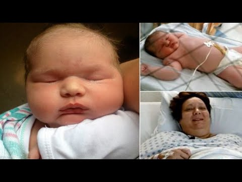 Woman gives birth to near 14 POUND baby -...