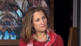 Chrystia Freeland says throne speech's message is that the government can 'get a lot done'