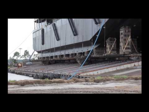 Eastern Shipbuilding boat launch video clips HDTV