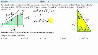 Zadanie 11. Trójkąt 30,60,90. Egzamin przykładowy ósmoklasisty CKE | MatFiz24.pl