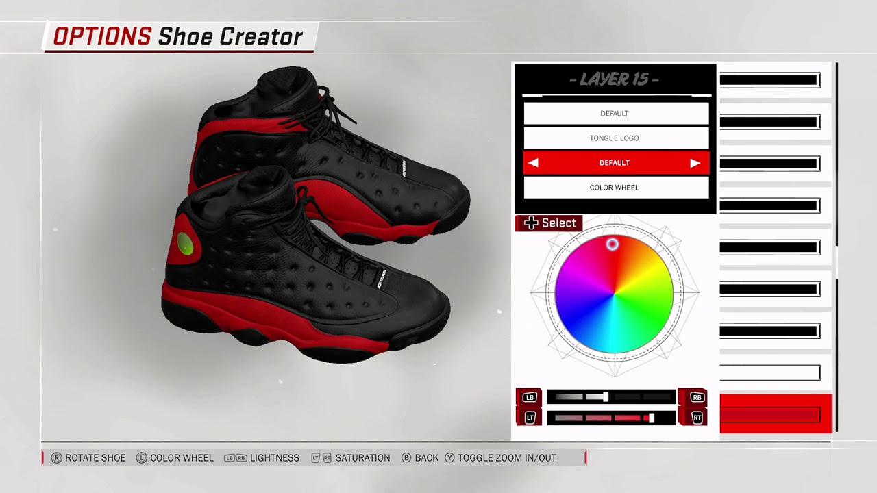 NBA 2K18 SHOE CREATOR JORDAN BRED 13