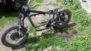 Мотоцикл с двигателем от Ваз 2109  Часть 3.