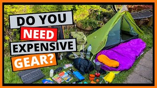Camping Gear On A Budget | My cheap backpacking gear setup