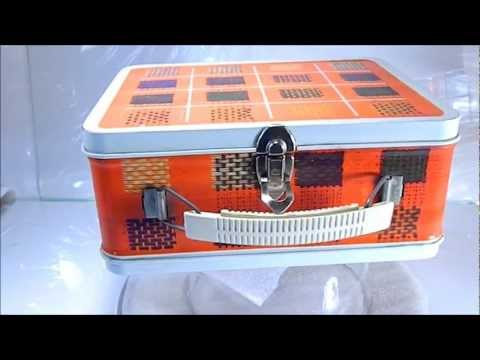 Plaid Metal Lunch Box