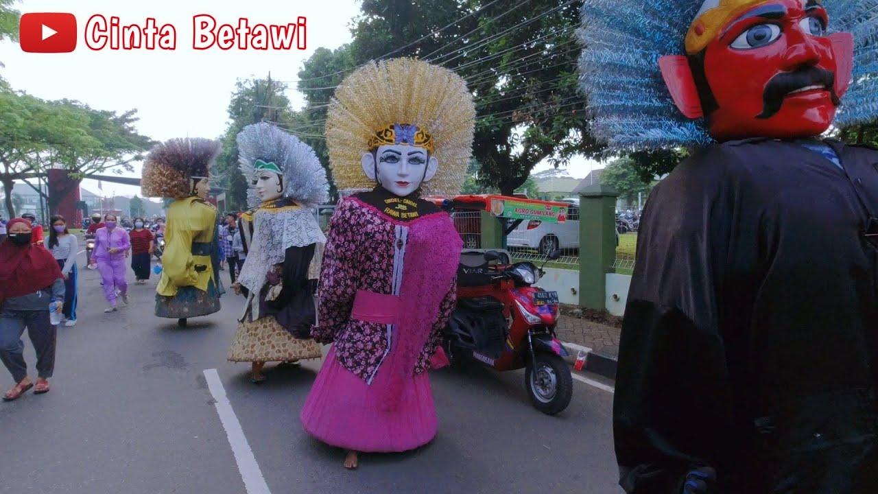 VIRAL Parade Ondel Ondel Betawi Berbaris Rapi Kompak 🌟 Ondel Ondel Lagu Jali Jali Sirih Kuning
