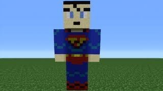 Minecraft 360: How To Make A Superman Statue