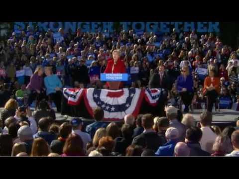 Elizabeth Warren DESTROYS Donald Trump In Manchester NH FULL Speech 10/24/16