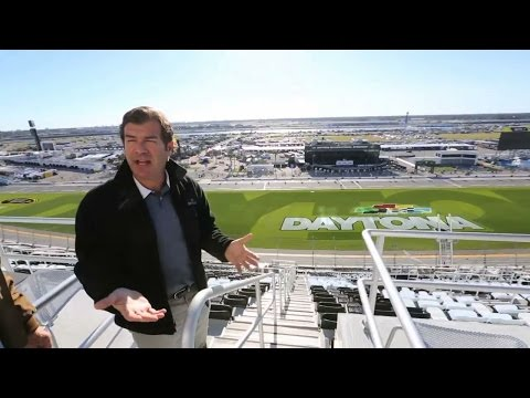 Take an exclusive tour of the new Daytona International Speedway