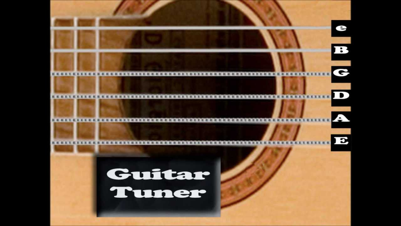 standard acoustic guitar tuner interactive youtube. Black Bedroom Furniture Sets. Home Design Ideas