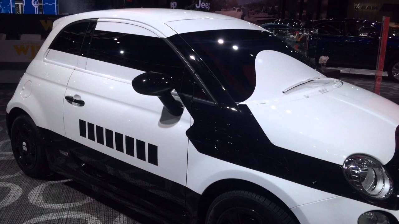 take a closer look at the fiat 500e stormtrooper concept. Black Bedroom Furniture Sets. Home Design Ideas