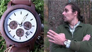 Holzkern Armbanduhr Modell