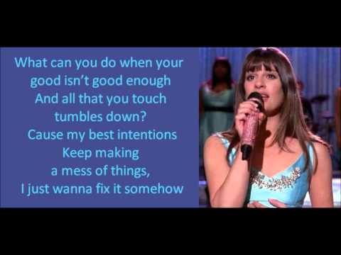Glee - Get It Right (lyrics)