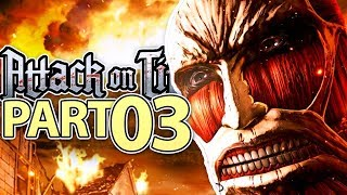 COLOSSAL TITAN APPEARS! | Attack on Titan 2 (AOT 2) Gameplay Walkthrough Part 3 (PS4/PC)