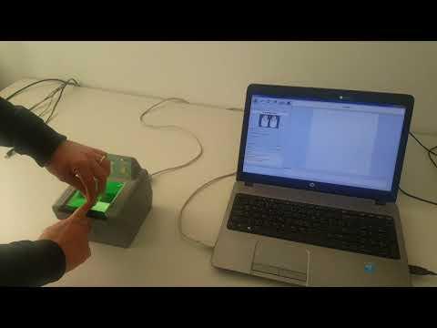 Rolled Fingerprints on DS84c