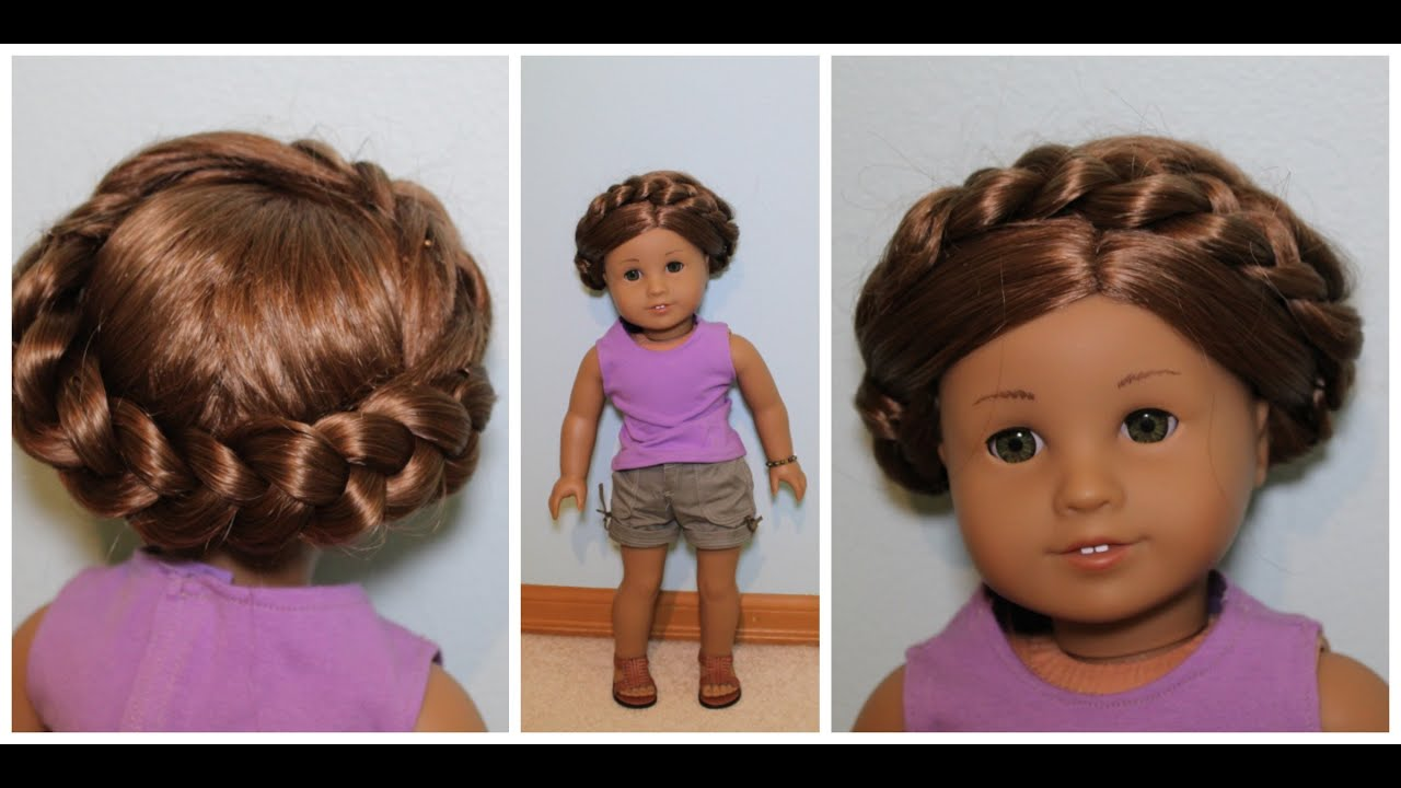 cute hairstyles for black females : Easy Summer Hairstyle for AG Dolls! - YouTube