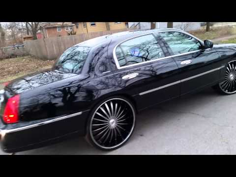 24s On Lincoln Town Car By Vashawnaka