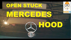 Mercedes Benz Hood ▶️How To Open Stuck ( NO TOOLS NEEDED )