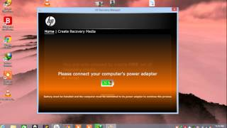 system recovery  hp window 8 creation