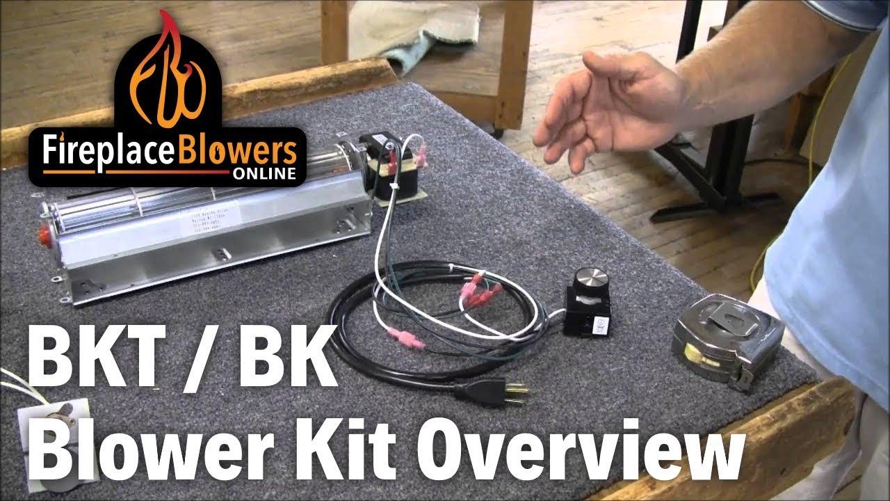 BK BKT Fireplace Blower Kit Overview  YouTube
