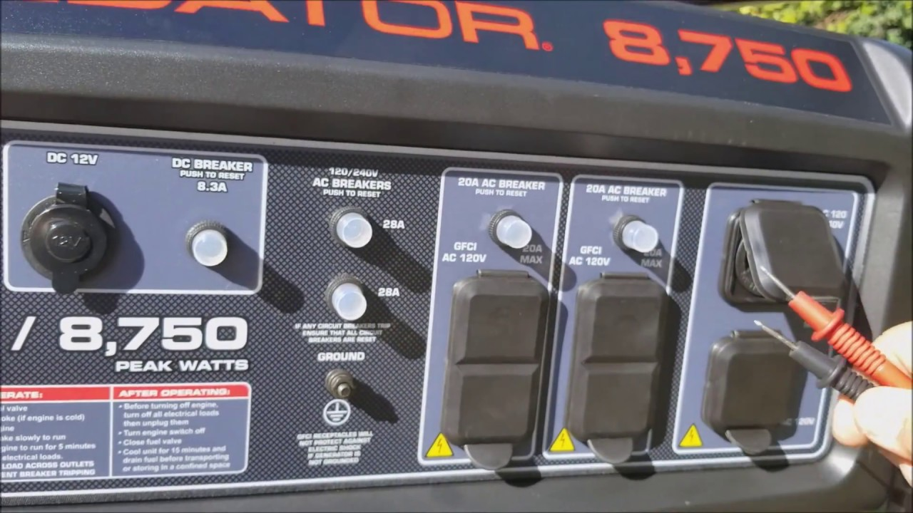 Predator 8 750 Generator start up and voltage check  YouTube