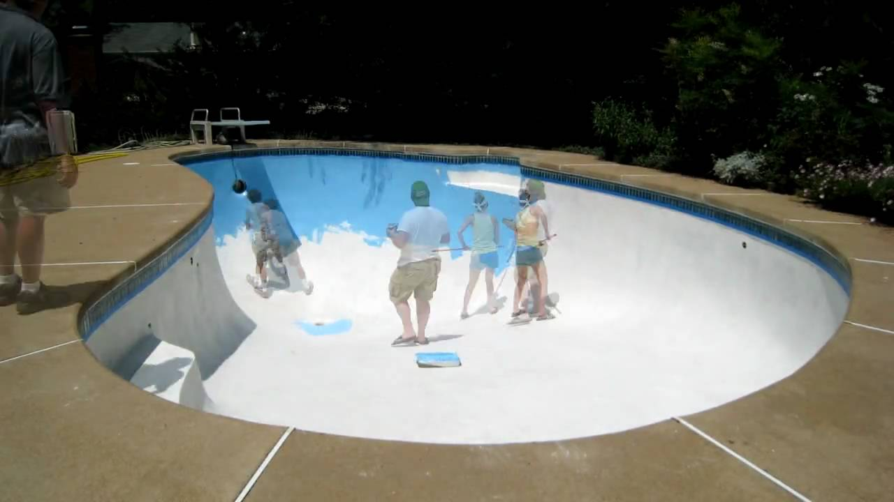 Time-lapse video of pool painting
