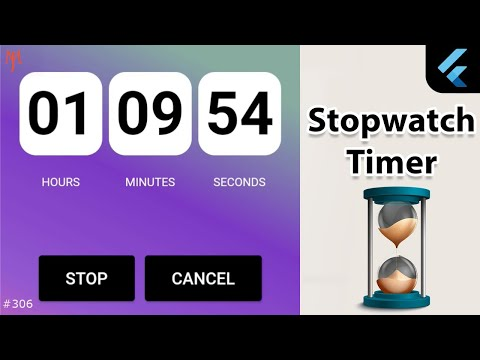 Flutter Tutorial - Simple Stopwatch Timer [2021] Countdown & Countup Timer