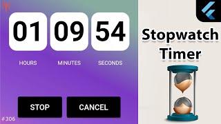 Flutter Tutorial - Simple Stopwatch Timer [2021] Countdown & Countup Timer screenshot 1