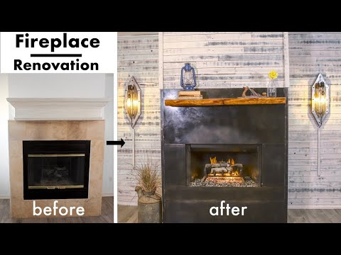 Extreme Fireplace Makeover/Renovation | DIY