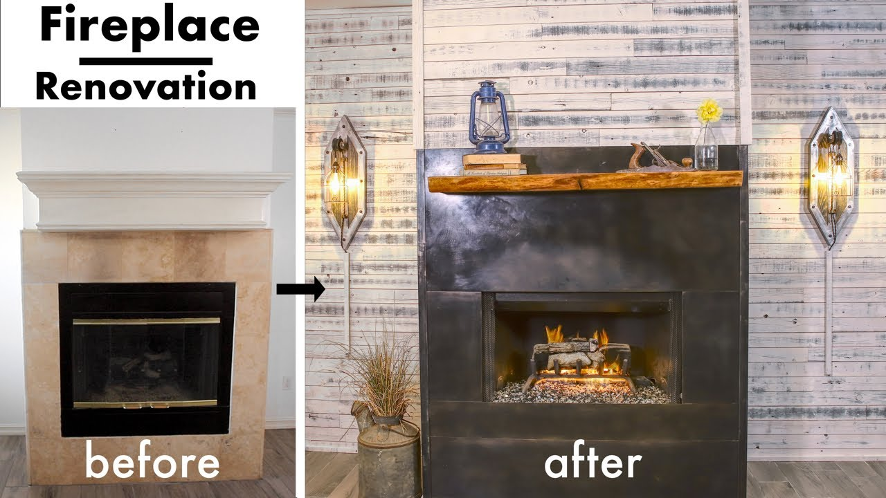 Extreme Fireplace Makeover Renovation Diy Youtube