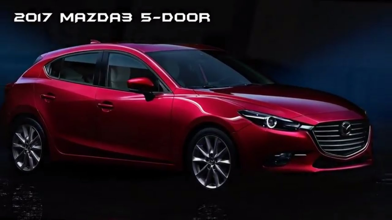 2017 mazda3 5 door debuts with sharper looks 2017 mazda 3 hatchback youtube. Black Bedroom Furniture Sets. Home Design Ideas