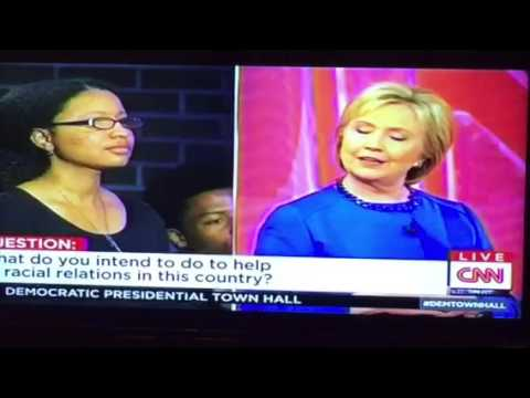 Hillary Clinton On Race Relations, Beyonce, The Police #DemTownHall