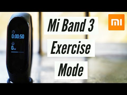 Mi Band 3 Exercise Mode