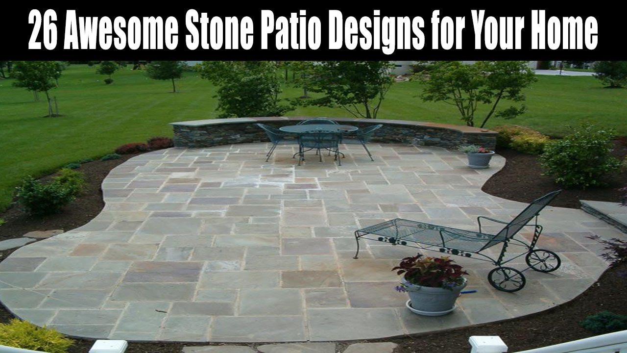 26 Awesome Stone Patio Designs For Your Home   YouTube