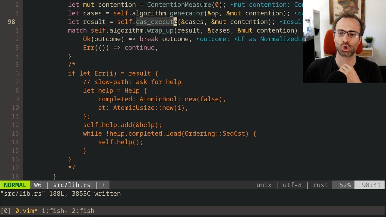 Lock-Free to Wait-Free Simulation in Rust