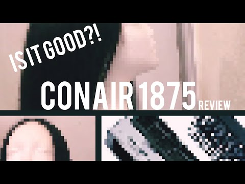 CONAIR 1875 3-N-1 BLOW DRYER REVIEW | STYLING & FLAT IRON RAW ASIAN HAIR