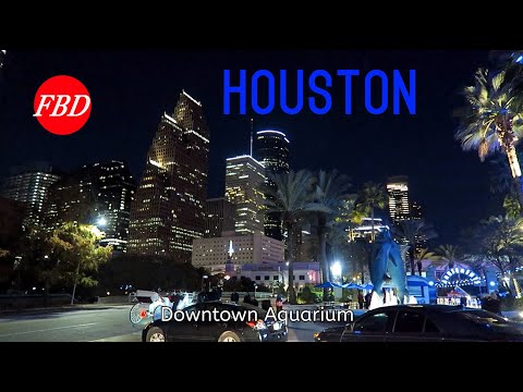 Driving Downtown Houston on Saturday Night | Footage By Daniel FBD