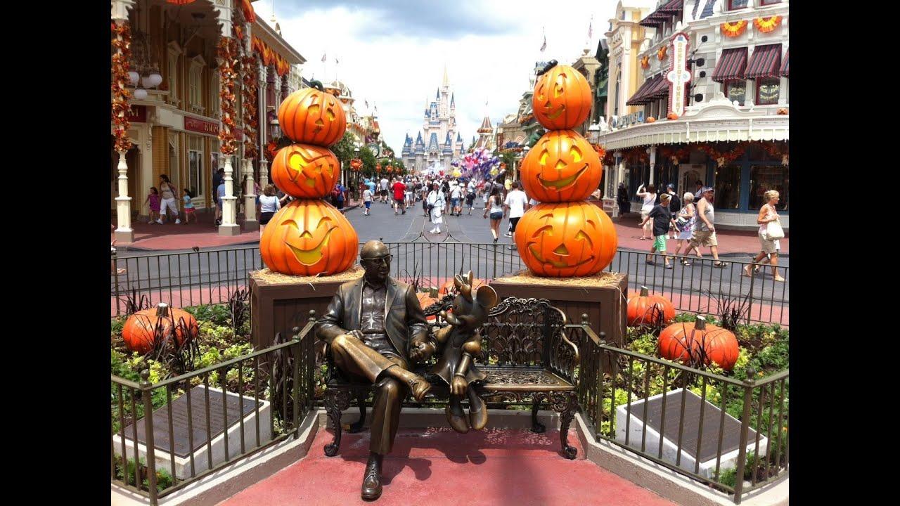 halloween decorations at magic kingdom main street disneyworld 2012 youtube - Disney Halloween Decorations