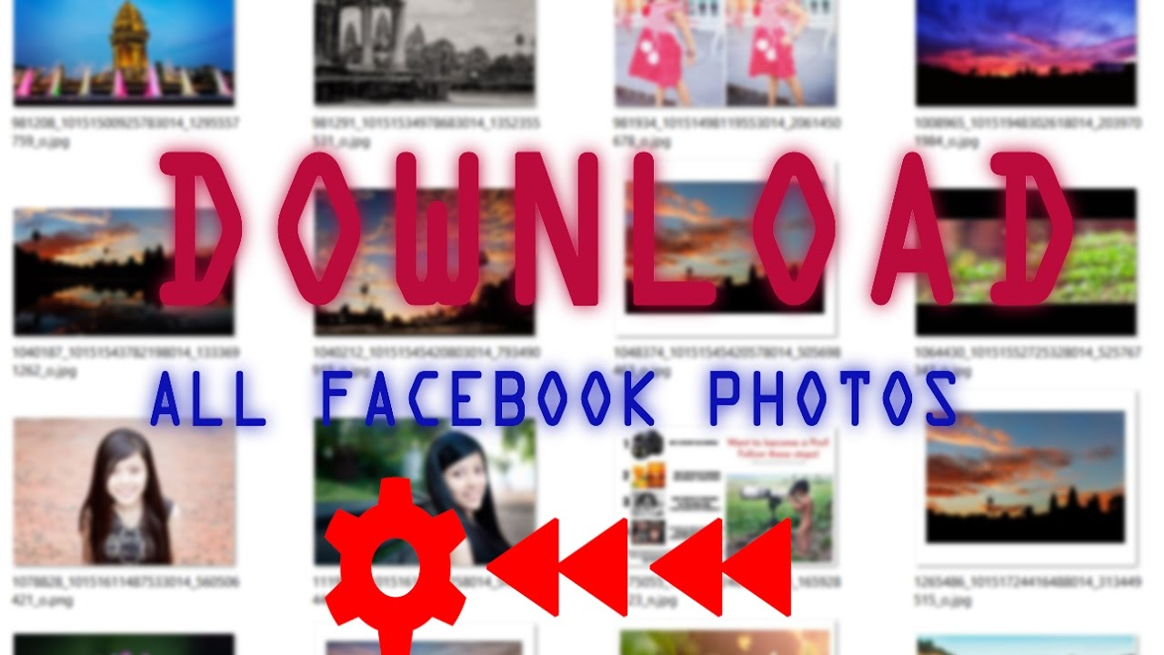 how to download all photos from a facebook Page|Group|profile in one click