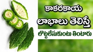 Amazing Health Benefits with Kakarakaya (Bitter Gourd) | Latest Health Tips | VTube Telugu