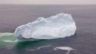Iceberg breaks apart near Twillingate Newfoundland