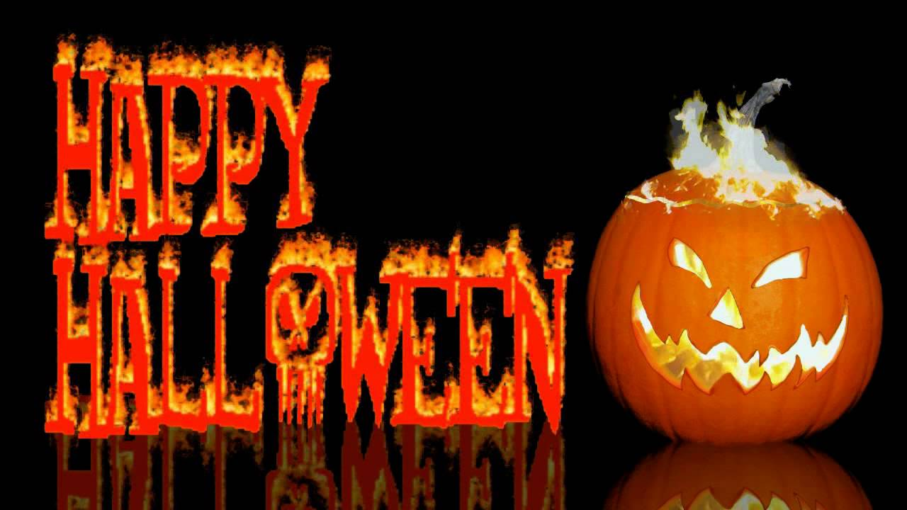 Happy Halloween Greeting with Scary Sound Effects - YouTube
