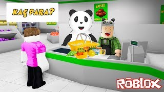 We Became Cashiers at the Market - Roblox Bloxburg with Panda