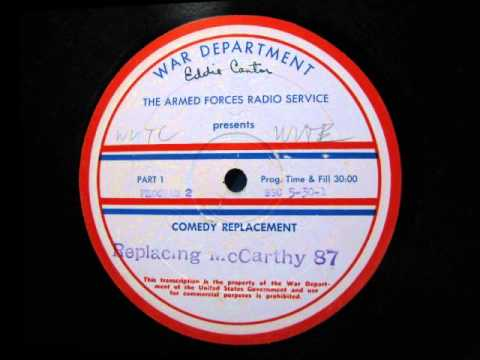 Eddie Cantor Radio Show on AFRS Transcription (Count Basie filler)