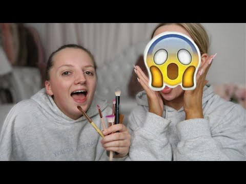 LITTLE SISTER DOES MY MAKEUP! | ELLE DARBY