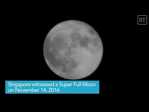 Supermoon in Singapore 2016