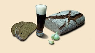 Хлеб чесночный на пиве